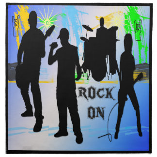 Rock On - Rock n' Roll Band American MoJo Napkin