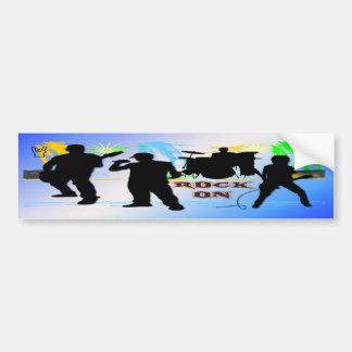 Rock On - Rock n' Roll Band Bumper Sticker