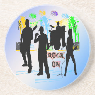 Rock On - Rock n' Roll Band Coaster