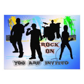 Rock On - Rock n' Roll Band Invitation