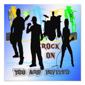 Rock On - Rock n' Roll Band Invitation