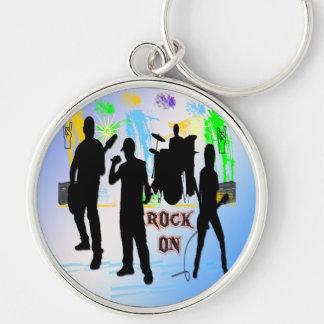 Rock On - Rock n' Roll Band Keychain