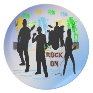 Rock On - Rock n' Roll Band Plate