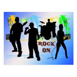 Rock On - Rock n' Roll Band Postcard