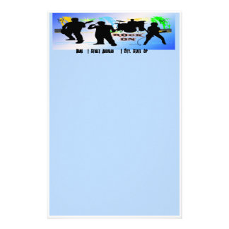 Rock On - Rock n' Roll Band Stationery