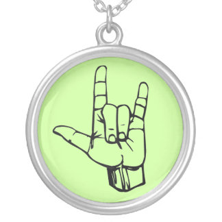 Rock On! Round Pendant Necklace