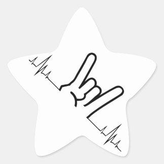 Rock On Star Sticker