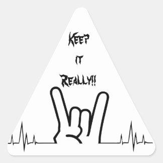 Rock On Triangle Sticker