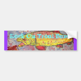 Rock On Trout Bums Bumper Sticker