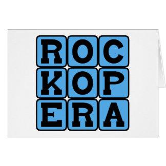 Rock Opera, Music Genre Greeting Card