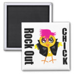 Rock Out Chick Refrigerator Magnets