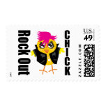 Rock Out Chick Stamps