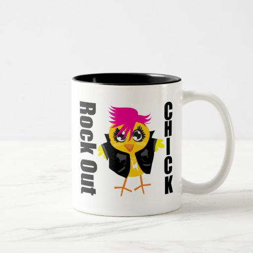 Rock Out Chick Two-Tone Coffee Mug