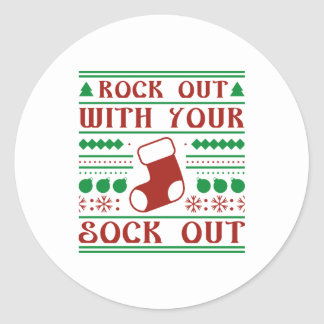 Rock Out Classic Round Sticker