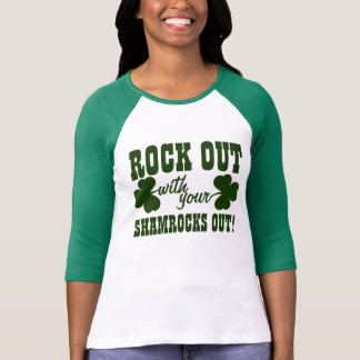 Rock Out On St Paddys Day Tee Shirt