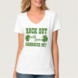 Rock Out On St Patricks Day Tee Shirts