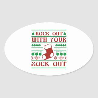 Rock Out Oval Sticker