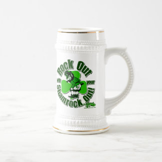 Rock Out With Your Shamrock Out! Beer Stein