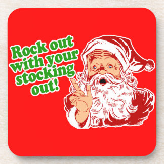 Rock Out With Your Sock Out Drink Coasters