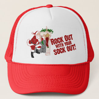 Rock Out WIth Your Sock Out! Trucker Hat