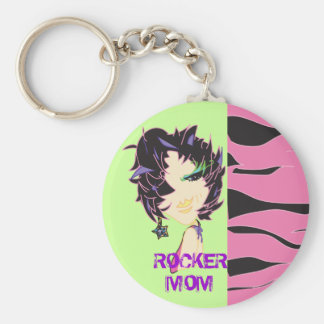 Rock out your keys! basic round button keychain