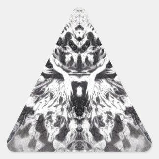 Rock Owl Triangle Sticker