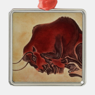 Rock painting of a bison, late Magdalenian Metal Ornament
