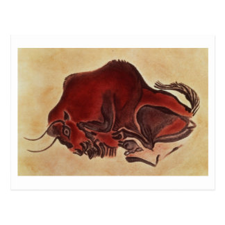 Rock painting of a bison, late Magdalenian Postcard