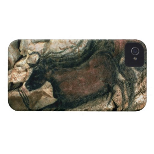 Rock painting of a black bull, c.17000 BC (cave pa iPhone 4 Cases