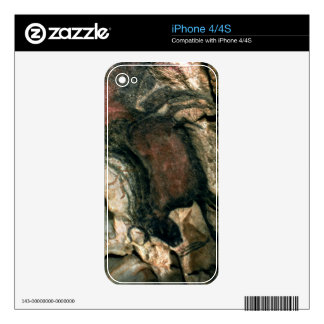 Rock painting of a black bull, c.17000 BC (cave pa iPhone 4 Skin