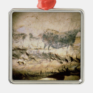Rock painting of a black cow, c.17000 BC Metal Ornament