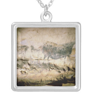 Rock painting of a black cow, c.17000 BC Square Pendant Necklace