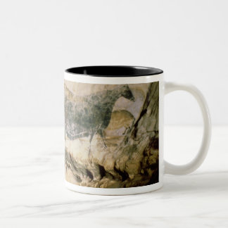 Rock painting of a black cow, c.17000 BC Two-Tone Coffee Mug