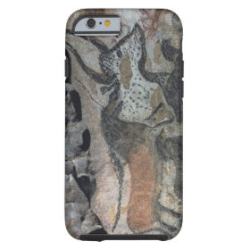 Rock painting of a bull and horses, c.17000 BC (ca Tough iPhone 6 Case