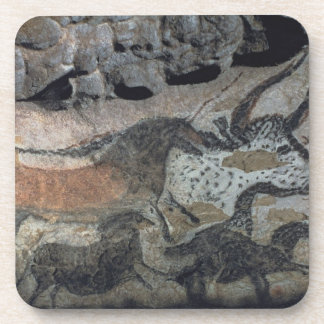 Rock painting of a bull and horses, c.17000 BC (ca Beverage Coasters