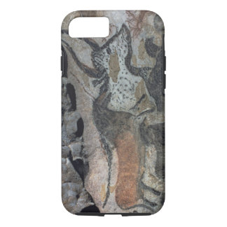 Rock painting of a bull and horses, c.17000 BC (ca iPhone 7 Case