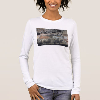 Rock painting of a bull and horses, c.17000 BC (ca Long Sleeve T-Shirt