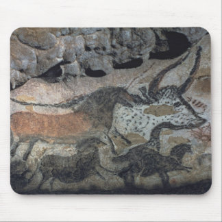Rock painting of a bull and horses, c.17000 BC (ca Mouse Pad
