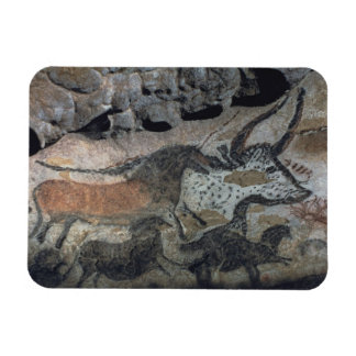 Rock painting of a bull and horses c 17000 BC ca Rectangular Magnets
