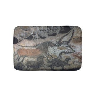 Rock painting of a bull and horses, c.17000 BC (ca Bath Mats