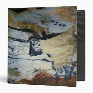 Rock painting of a bull with long horns binder