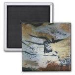 Rock painting of a bull with long horns refrigerator magnets
