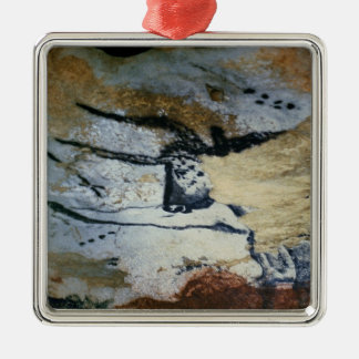 Rock painting of a bull with long horns metal ornament