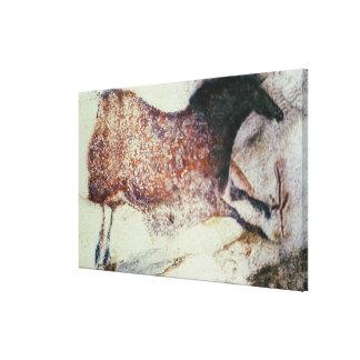 Rock painting of a galloping horse, c.17000 BC Canvas Print