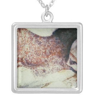 Rock painting of a galloping horse, c.17000 BC Square Pendant Necklace