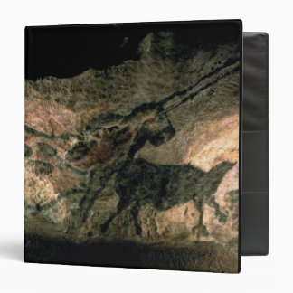 Rock painting of a horned animal, c.17000 BC (cave Vinyl Binder