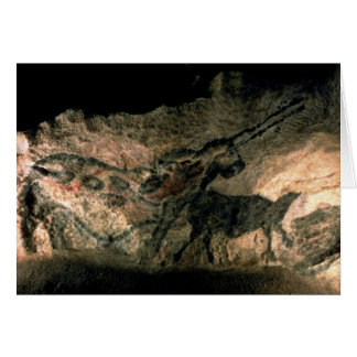 Rock painting of a horned animal, c.17000 BC (cave Card