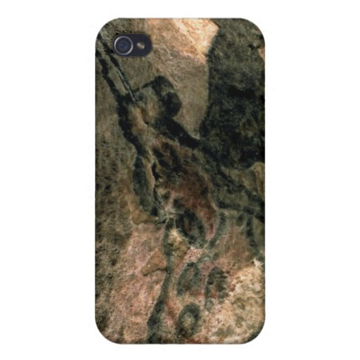 Rock painting of a horned animal, c.17000 BC (cave iPhone 4 Case
