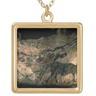 Rock painting of a horned animal, c.17000 BC (cave Square Pendant Necklace