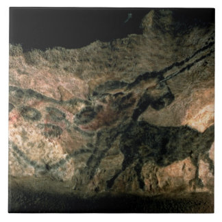 Rock painting of a horned animal, c.17000 BC (cave Ceramic Tile